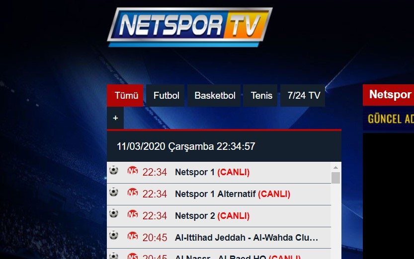 Netspor Tv Canlı Maç İzle 2020